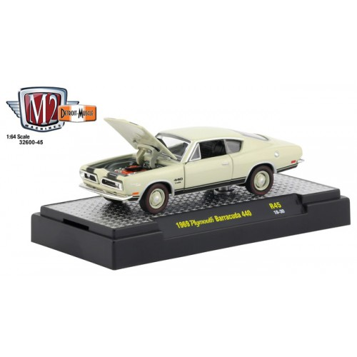 M2 Machines Detroit Muscle Release 45 - 1969 Plymouth Barracuda 440