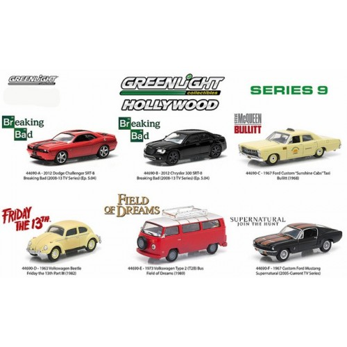 Hollywood Series 9 - Six Car Set