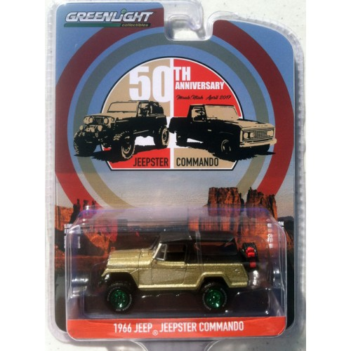 Greenlight Anniversary Collection Series 10 - 1966 Jeep Jeepster Commando GREEN MACHINE