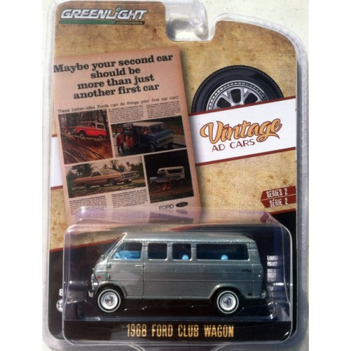 Greenlight Vintage Ad Cars Series 2 - 1968 Ford Club Wagon GREEN MACHINE RAW CASTING