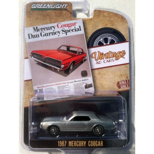 Greenlight Vintage Ad Cars Series 2 - 1967 Mercury Cougar GREEN MACHINE RAW CASTING