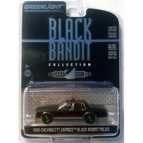 Greenlight Black Bandit Series 22 - 1980 Chevrolet Caprice Police Car GREEN MACHINE