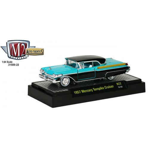 M2 Machines Auto-Thentics Release 22 - 1957 Mercury Turnpike Cruiser