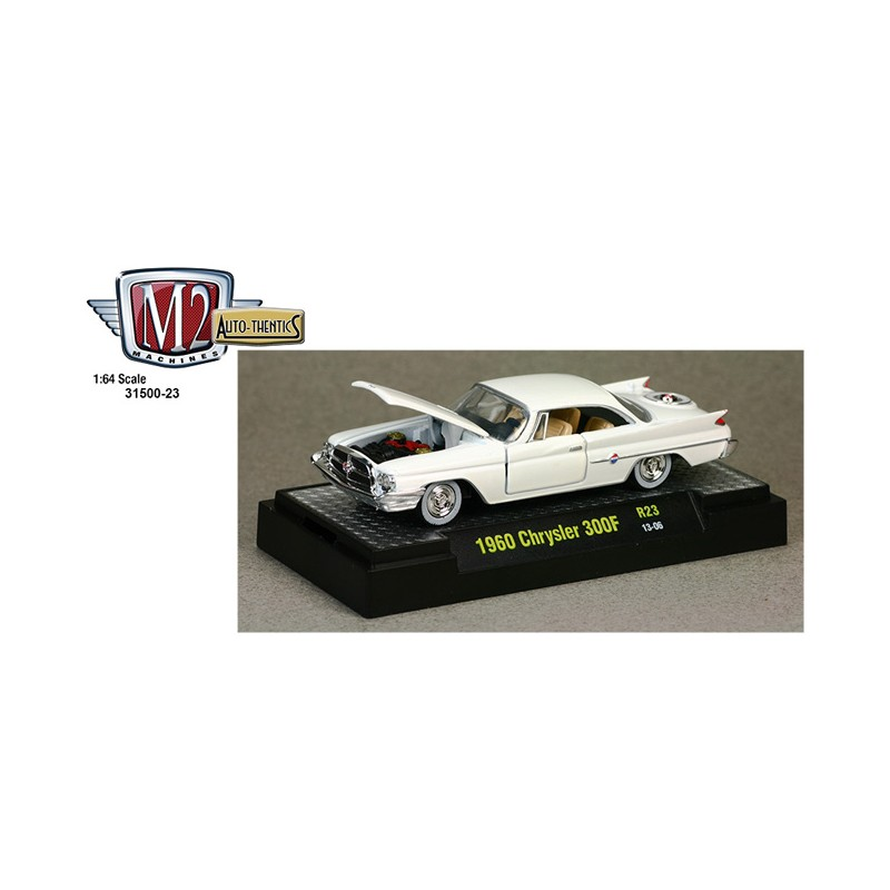 M2 Machines Auto-Thentics 1960 Chrysler 300F 12-35 Black Details Like NO Other Over 42 Parts