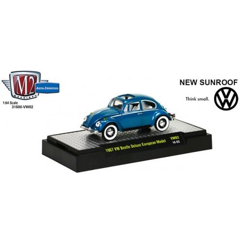 M2 Machines Auto-Thentics Volkswagen Release 2 - 1967 Volkswagen Beetle Deluxe Clamshell Package