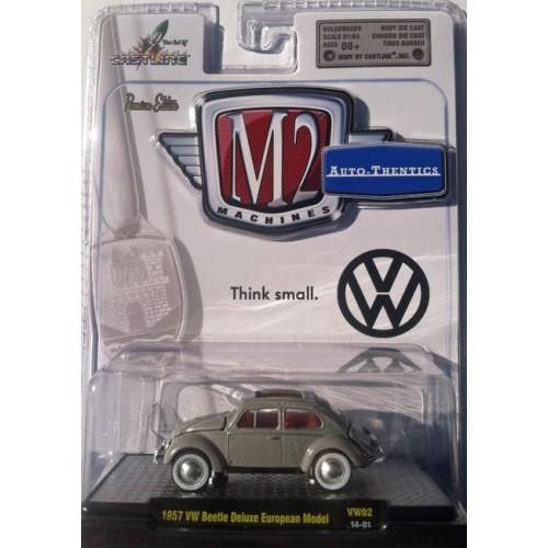 M2 Machines Auto-Thentics Volkswagen Release 2 - 1957 Volkswagen Beetle Clamshell Package