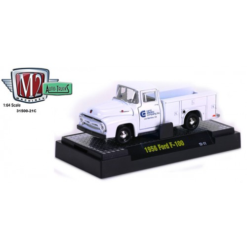 M2 Machines Auto-Trucks Release 21 - 1956 Ford F-100 Utility Bed Clamshell Package