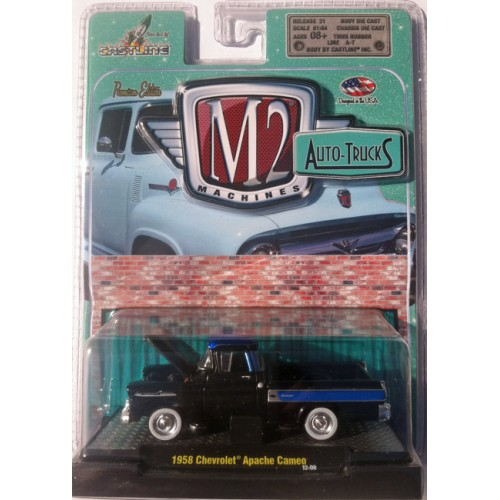 M2 Machines Auto-Trucks Release 21 - 1958 Chevy Apache Cameo Clamshell Package