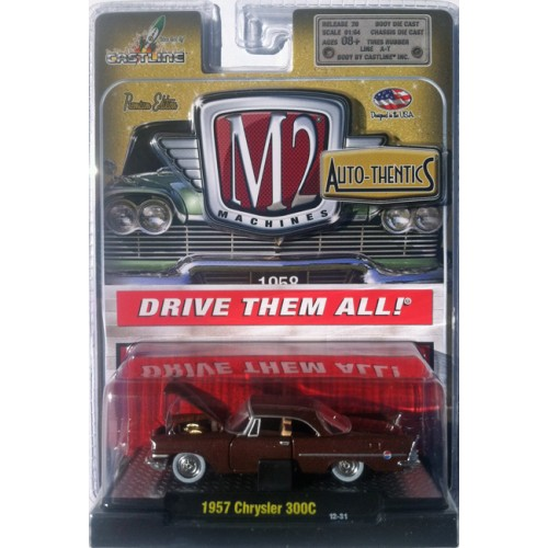 M2 Machines Auto-Thentics Release 20 - 1957 Chrysler 300C Clamshell Package