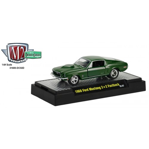 M2 Machines Detroit Cruisers Release 2 - 1968 Ford Mustang 2+2 Fastback Clamshell Package