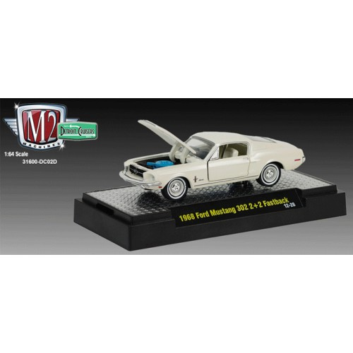 M2 Machines Detroit Cruisers Release 2 - 1968 Ford Mustang 302 2+2 Fastback Clamshell Package