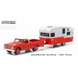 Greenlight Hitch and Tow Series 4 - 1962 Dodge D-100 and Shasta Airflyte Camper