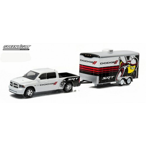 Greenlight Hitch and Tow Series 3 - 2014 Ram 1500 and Enclosed Car Hauler