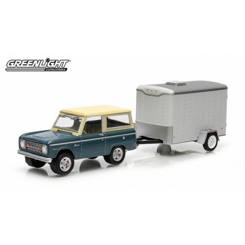 Greenlight Hitch and Tow Series 2 - 1967 Ford Bronco and Small Cargo Trailer