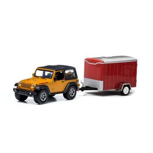 Greenlight Hitch and Tow Series 1 - 2014 Jeep Wrangler Rubicon X and Cargo Trailer
