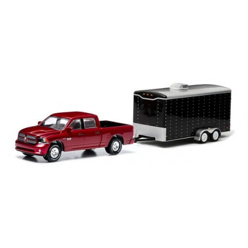 Greenlight Hitch and Tow Series 1 - 2014 Ram 1500 and Enclosed Car Hauler