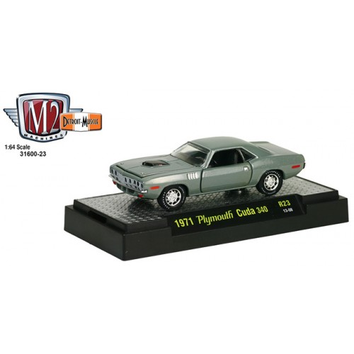 M2 Machines Detroit Muscle Release 23 - 1971 Plymouth Cuda 340 Clamshell Package