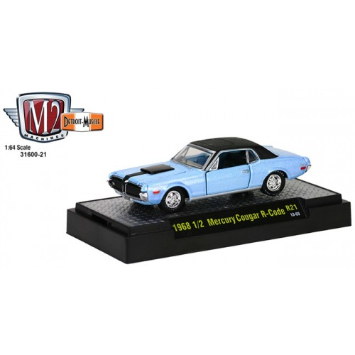 M2 Machines Detroit Muscle Release 21 - 1968 1/2 Mercury Cougar R Code Clamshell Package