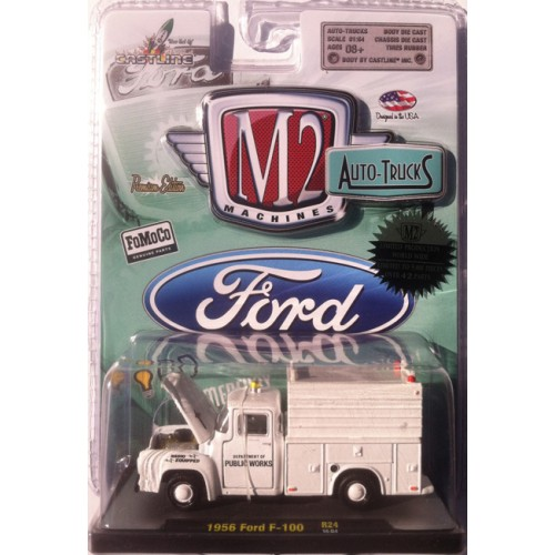 M2 Machines Auto-Trucks Release 24 - 1956 Ford F-100 Utility Bed Clamshell Package