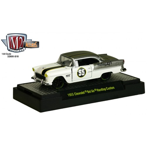 M2 Machines Detroit Muscle Release S18 - 1955 Chevy Bel Air Hardtop Custom Hobby Exclusive