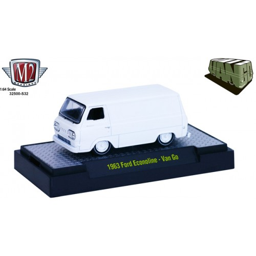 M2 Machines Van Go Hobby Exclusive 32500-S32 - 1963 Ford Econoline Van