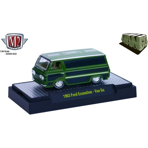 M2 Machines Van Go Hobby Exclusive Release 32500-S32 - 1963 Ford Econoline