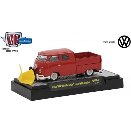 M2 Machines Auto-Thentics Volkswagen Release 4 - 1959 Volkswagen Double Cab Truck