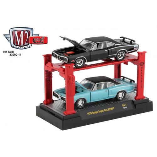 M2 Machines Auto-Lifts Release 17 - 1970 Dodge Super Bee HEMI Set