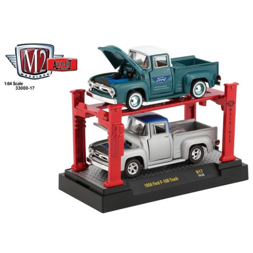 M2 Machines Auto-Lifts Release 17 - 1956 Ford F-100 Truck Set