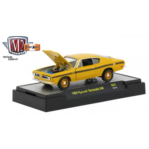 M2 Machines Detroit Muscle Release 47 - 1969 Plymouth Barracuda 340