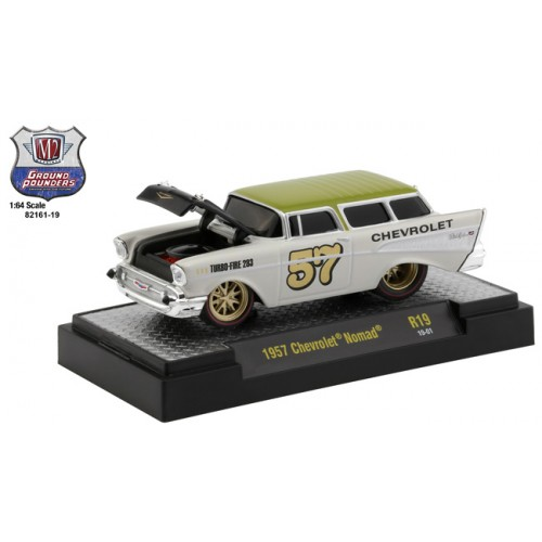 M2 Machines Ground Pounders Release 19 - 1957 Chevrolet Nomad Wagon