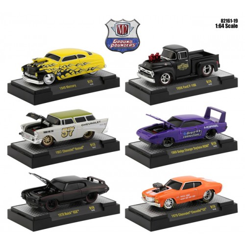 M2 Machines Ground Pounders Release 19 - Six Car Set