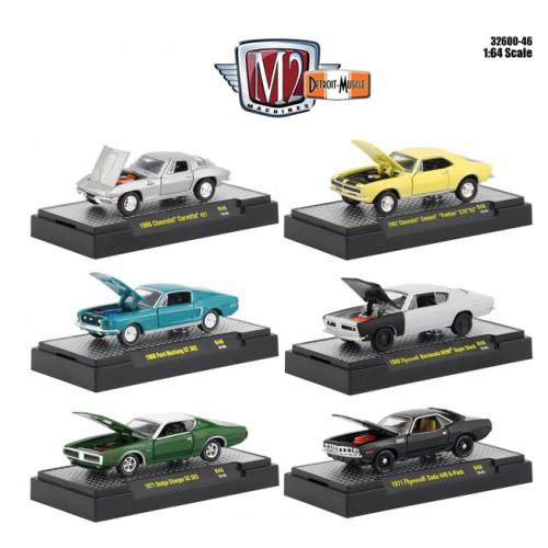 M2 Machine Detroit Muscle Release 46 - Six Car Set