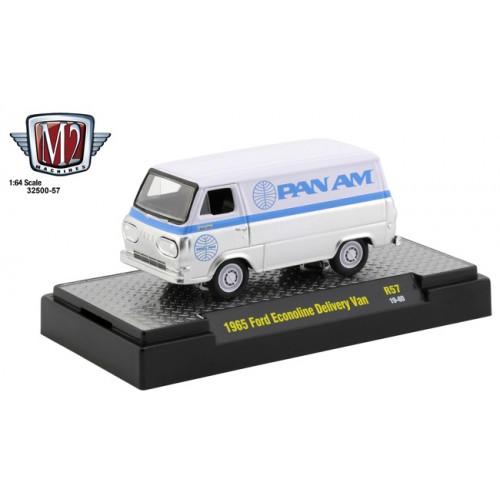 M2 Machines Auto-Thentics Release 57 - 1965 Ford Econoline Delivery Van Pan Am