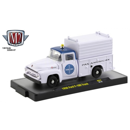 M2 Machines Auto-Thentics Release 57 - 1956 Ford F-100 Truck Pan Am