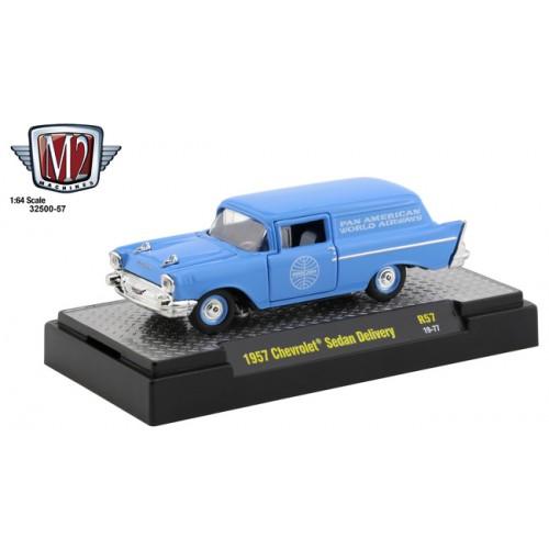 M2 Machines Auto-Thentics Release 57 - 1957 Chevrolet Sedan Delivery Pan Am
