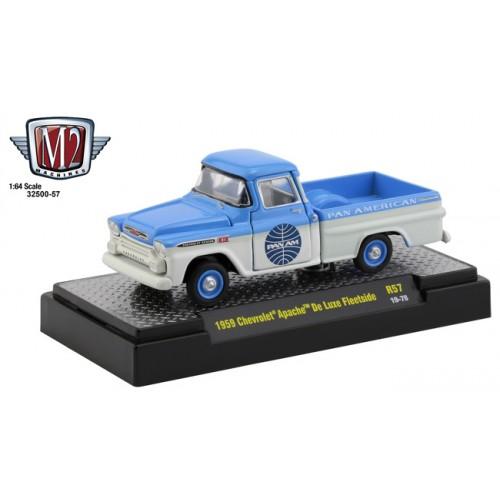 M2 Machines Auto-Thentics Release 57 - 1959 Chevrolet Apache Deluxe Fleetside Pan Am
