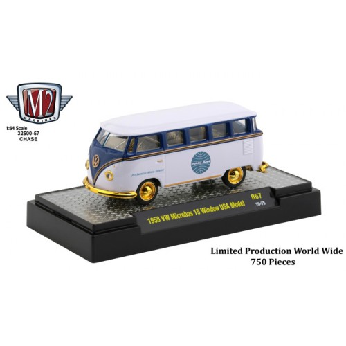 M2 Machines Auto-Thentics Release 57 - 1958 Volkswagen Microbus Pan Am CHASE CAR