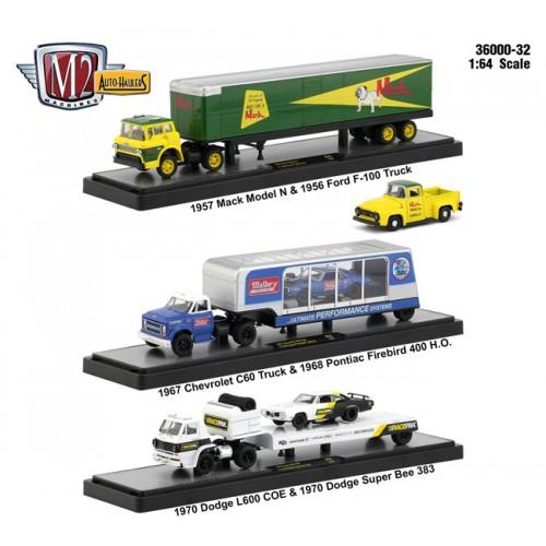 M2 Machines Auto-Haulers Release 32 -  Three Truck Set