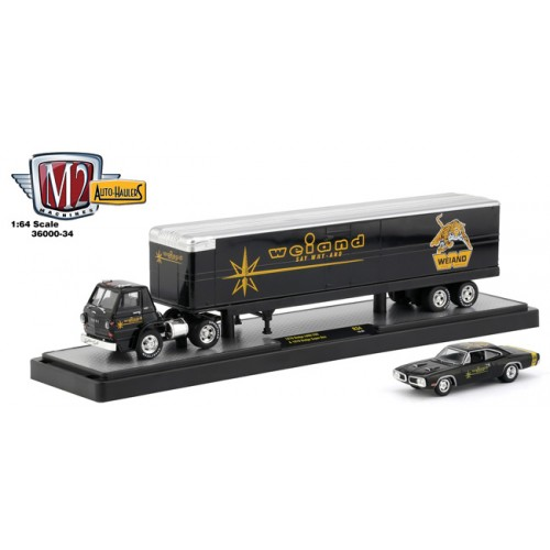 M2 Machines Auto-Haulers Release 34 - 1970 Dodge L600 with 1970 Dodge Super Bee 383