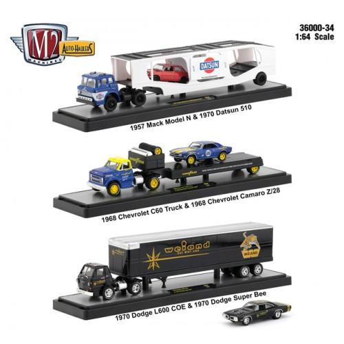 M2 Machines Auto-Haulers Release 34 - Three Truck Set