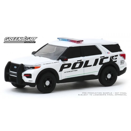 Greenlight Hot Pursuit Series 34 - 2020 Ford Police Interceptor Utility Show Vehicle