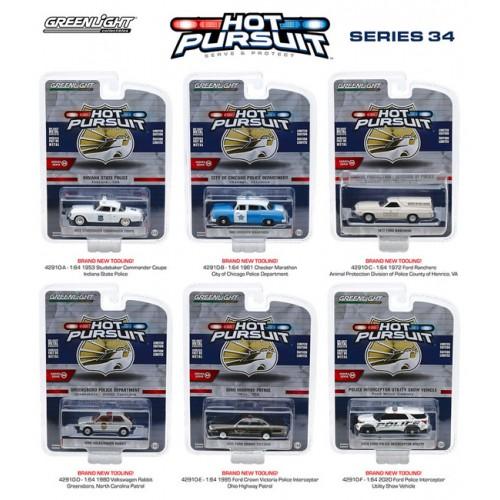 Greenlight Hot Pursuit Series 34 - Six Car Set