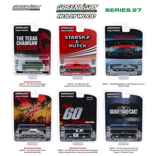 Greenlight Hollywood Series 27 - Six Car Set