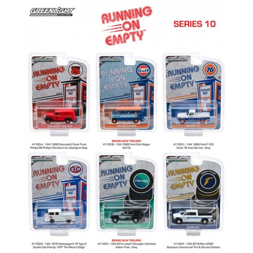 Greenlight Running On Empty Series 10 - Six Car Set
