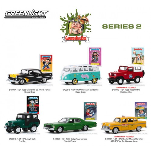 Greenlight Garbage Pail Kids Series 2 - Six Car Set