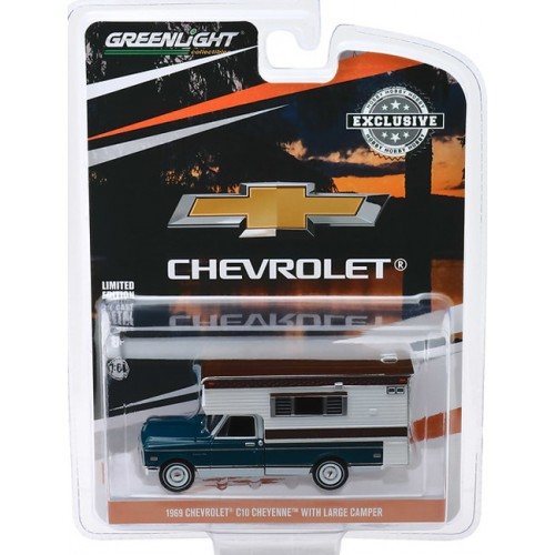 Greenlight Hobby Exclusive - 1969 Chevy C-10 Cheyenne with Large Camper