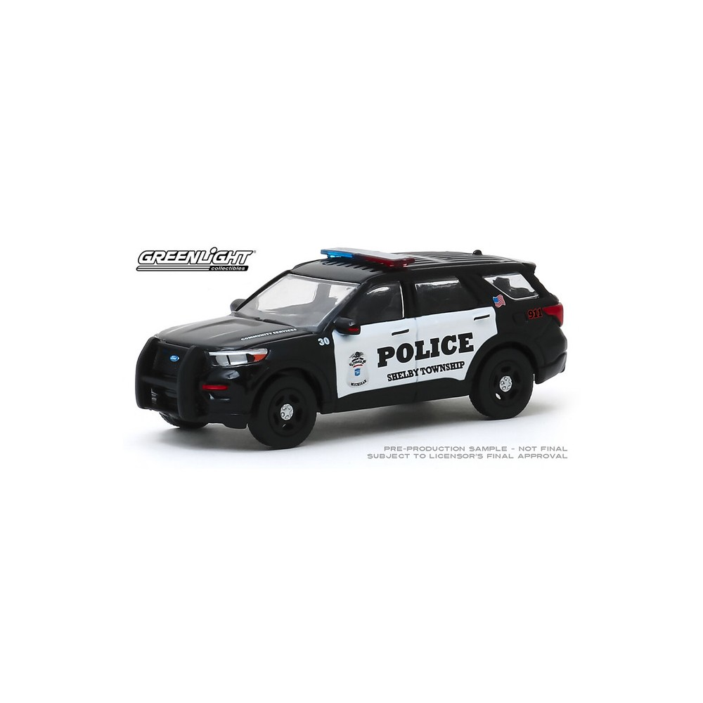 Greenlight Hobby Exclusive - 2020 Ford Police Interceptor Utility Shelby Township Michigan