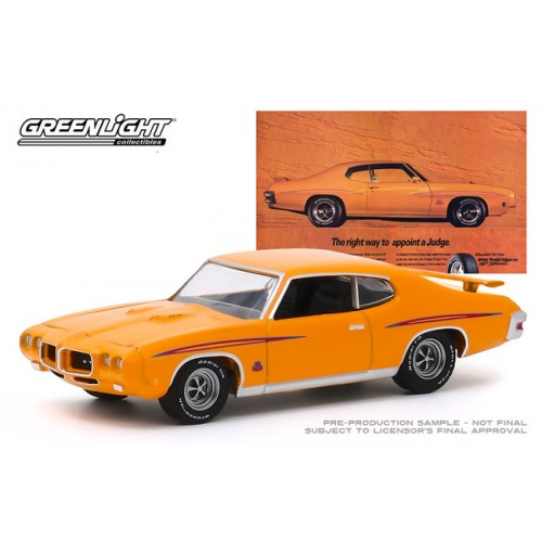Greenlight Hobby Exclusive BF Goodrich Vintage Ad Cars - 1970 Pontiac GTO Judge