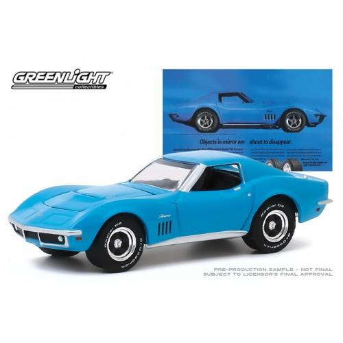 Greenlight Hobby Exclusvie BF Goodrich Vintage Ad Cars - 1969 Chevrolet Corvette